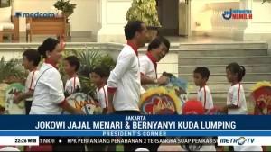 Presiden dan Ibu Negara Bermain Permainan Tradisional Bersama Anak-anak