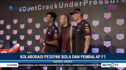 Duo Red Bull Ajari Andres Iniesta Lakukan Simulasi Ganti Ban