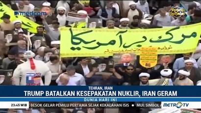 Ribuan Warga Iran Kecam Keputusan Trump Batalkan Kesepakatan Nuklir