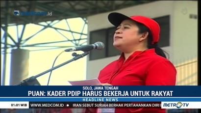 Puan Maharani Ajak Kader PDIP Menangkan Pemilu 2019