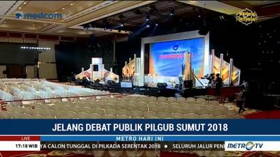 Polisi Bersiaga di Lokasi Debat Publik Kedua Pilgub Sumut 2018