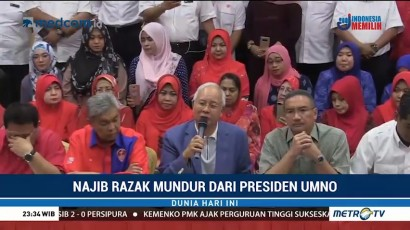 Najib Razak Mundur dari Pimpinan Umno dan Barisan Nasional