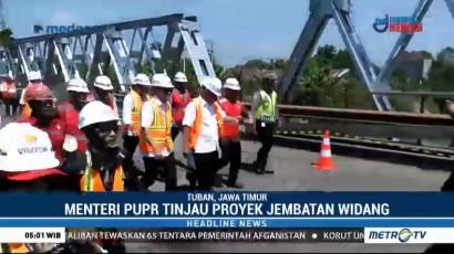 Menteri PUPR Tinjau Pembangunan Jembatan Widang