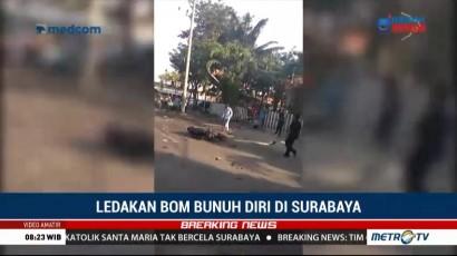 Video Amatir Bom Bunuh Diri di Surabaya