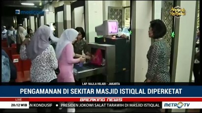 Pengamanan Masjid Istiqlal Diperketat