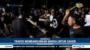Warga Gorontalo Gelar Tradisi Koko'o Sahur