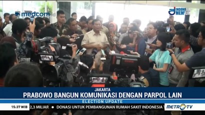 Prabowo Terus Bangun Komunikasi dengan Parpol Lain