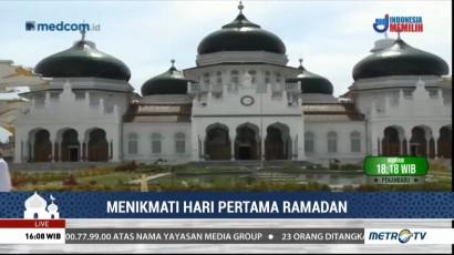 Hari Pertama Ramadan di Masjid Raya Baiturahman