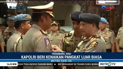 Lima Anggota Polda Riau Dapat Kenaikan Pangkat dari Kapolri