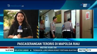 Kapolri Jenguk Polisi Korban Penyerangan Mapolda Riau