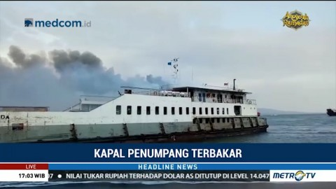 Tak Ada Korban Jiwa akibat Kebakaran Kapal Penumpang di Selat Bali