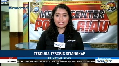 8 Terduga Teroris Ditangkap Terkait Penyerangan Mapolda Riau
