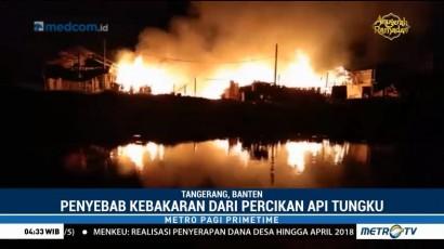 Pabrik Peleburan Alumunium di Tangerang Ludes Terbakar