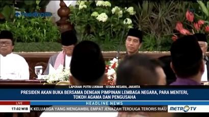 Jokowi Buka Bersama Pimpinan Lembaga Negara dan Tokoh Agama