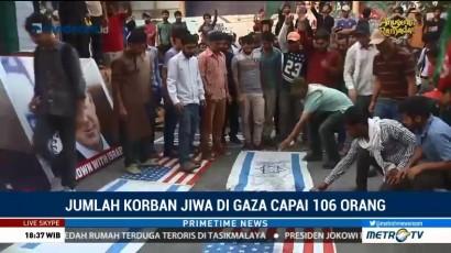 106 Warga Gaza Gugur Akibat Bentrok dengan Israel