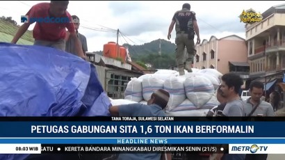 Tim Gabungan Sita 1,6 Ton Berformalin di Tana Toraja