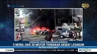 Rangkaian Teror Bom Guncang Surabaya