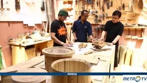Berkunjung ke Lokasi Pembuatan Alat Musik Bambu