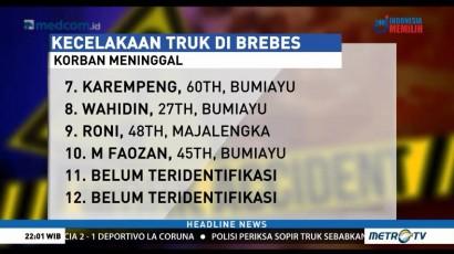 Daftar Nama Korban Kecelakaan Truk di Brebes