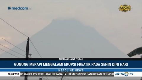 Gunung Merapi Kembali Alami Erupsi Freatik