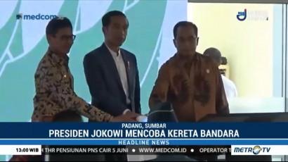 Jokowi Resmikan Kereta Bandara Minangkabau