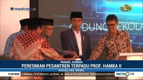 Jokowi Resmikan Pesantren Prof Dr Hamka II