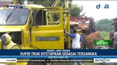 Polisi Tetapkan Sopir Truk Sebagai Tersangka Kecelakaan Maut di Brebes