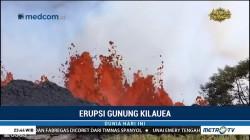 Lava Pijar Gunung Kilauea Terus Berguguran