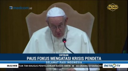 Paus Fransiskus Fokus Atasi Krisis Pendeta di Eropa