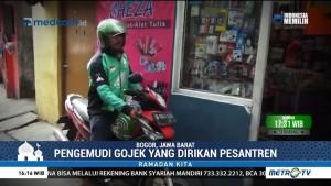 Ini Endang Irawan, Pengemudi Ojek Online Sekaligus Pembina Ponpes di Bogor