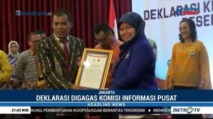 Partai Peserta Pemilu 2019 Deklarasikan Keterbukaan Informasi