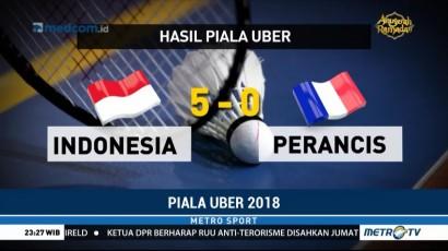 Indonesia Lolos ke Perempat Final Piala Uber 2018