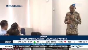 Pengerjaan Proyek MRT Jakarta Telah Capai 93 Persen