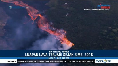 Lava Gunung Kilauea Dekati Area Pembangkit Panas Bumi