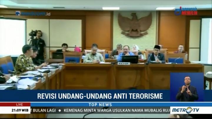 Pembahasan RUU Terorisme Dilanjutkan Besok