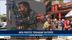 Massa Protes Darurat Militer di Selatan Filipina