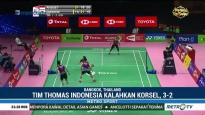 Indonesia Lolos ke Perempat Final Piala Thomas dan Uber 2018