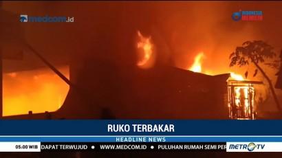 Sebuah Ruko di Pontianak Ludes Terbakar