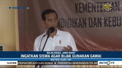 Jokowi Ingatkan Siswa dan Guru Agar Bijak Gunakan Gawai