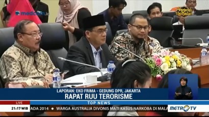 Rapat Finalisasi UU Terorisme Masih Berlangsung