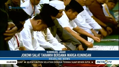 Jokowi Salat Tarawih Bersama Warga Kuningan