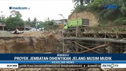 Jelang Mudik, Sejumlah Proyek Jembatan di Bengkulu akan Dihentikan