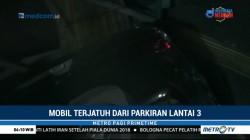 Mobil Terjatuh dari Lantai 3 Parkiran Pasar di Cakung