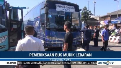 Dishub Periksa Kelaikan Bus Mudik Lebaran di Terminal Leuwipanjang