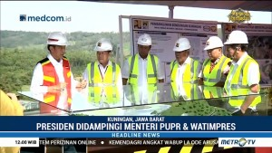 Jokowi Tinjau Pembangunan Bendungan Kuningan