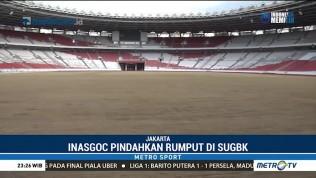 Rumput SUGBK Dipindahkan Jelang Pembukaan Asian Games