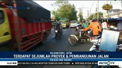 Jelang Arus Mudik, Polres Bojonegoro Waspadai Dua Titik Pasar Tumpah