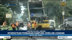 Perbaikan Jalinsum Lampung Ditargetkan Selesai 10 Hari Jelang Lebaran