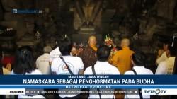 Puluhan Umat MAHABUDHI Lakukan Tradisi Dharmayatra di Candi Mendut