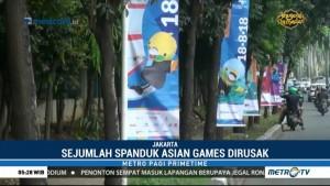 Polisi Buru Pelaku Vandalisme Atribut Asian Games